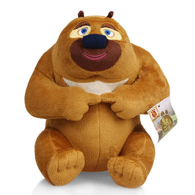 【独家】熊出没熊大熊二可爱毛绒公仔手机座 公仔玩具