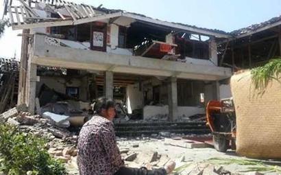 芦山清仁乡多数房屋倒塌