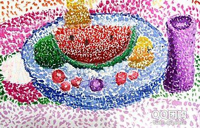 儿童创意水粉画作品