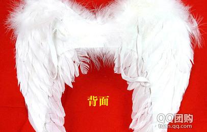 济南团购 团购   品名:天使羽毛翅膀  工艺:手工制作  颜色:白  材质