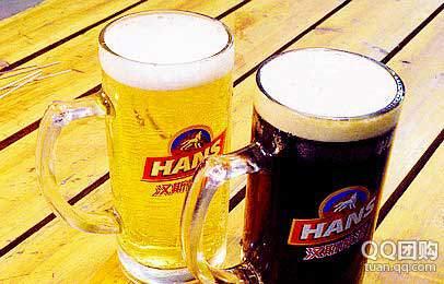 原价44元《青岛汉斯啤酒花园》草场坡店烧烤套餐:青岛汉斯扎啤2扎杯