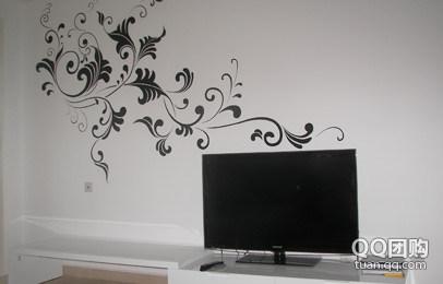 墙壁手绘画 黑白